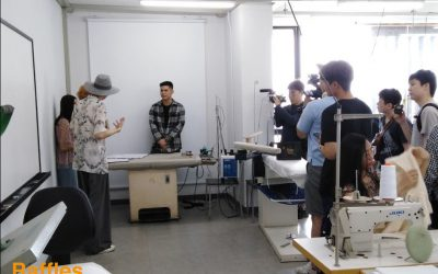 Korean TV program came and used our beautiful campus